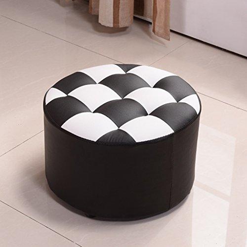 Hocker Kleine Runde Sofa Adult Wohnzimmer Home Fashion Kreative Massivholz Pittun Schuhe Farbe  Schwarz