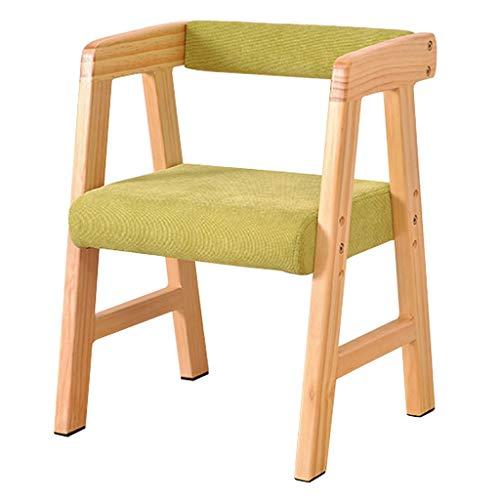 QINGPINGGUO QPG Hocker Massivholz Kinderstuhl Rückenlehne Sofa Hocker Kleine Bank Baby Esszimmerstuhl Studie Stuhl Farbe  A