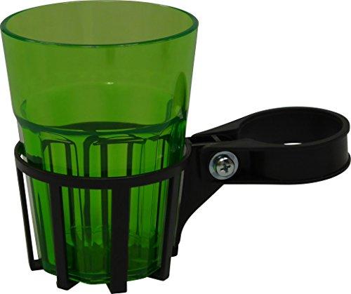Angerer Getränkehalter für Hollywoodschaukel eisengrau inkl Becher grün 97001