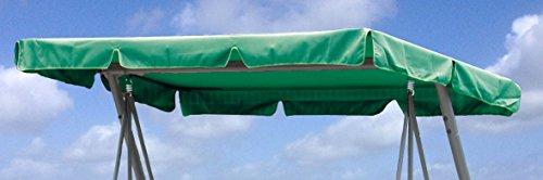 Grasekamp Ersatzdach Universal Hollywoodschaukel Grün Ersatz-Bezug Sonnendach Dachplane