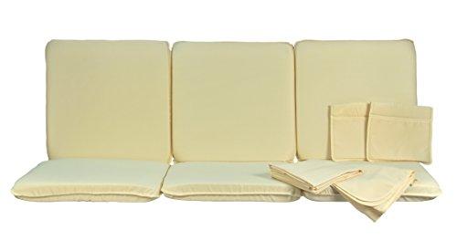 Neffy Shop Set kissen  Dach Ersatz für Hollywoodschaukel 4-Sitzer Grün 175 x 55 x 8 cm  1613