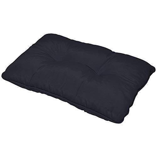 Beautissu Flair Outdoor Lounge-Kissen wasserfest Rückenkissen Blau 60x40x12 cm Polster für Rattan und Gartenmöbel in verschiedenen Farben und Größen erhältlich