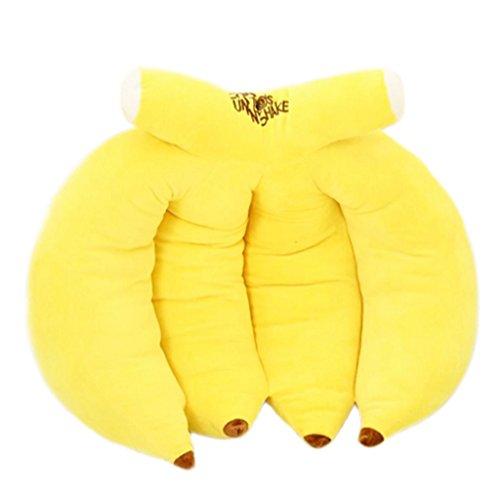 IMFFSE Bananenkissen Cute Plüschtiere Sofa Lendenkissen Wohnzimmer Schlafzimmer Kissen Dekoration 70 cm Gelb