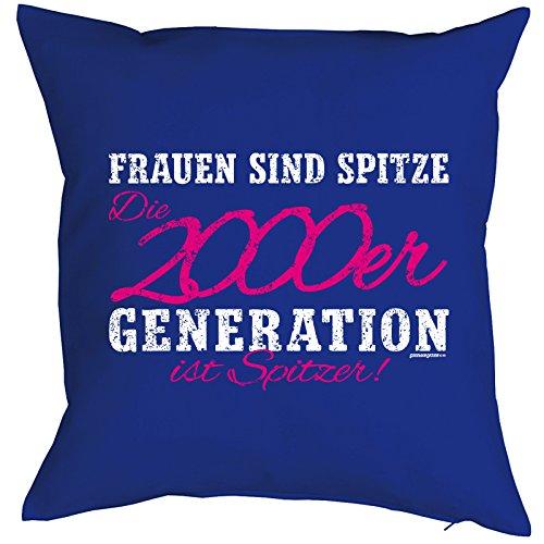 JahrgangsGeburtstags-KissenFun-Sofa-Kissen Frauen sind spitze Die 2000er Generation ist Spitzer Geburtstagsgeschenk