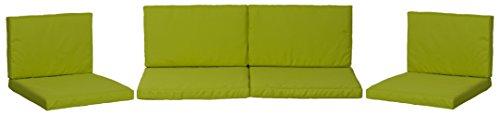 beo Loungekissen Ersatz für Monaco Set Gruppen Austauschkissen wasserabweisend Set mit 8 Kissen 5 cm dick hellgrün