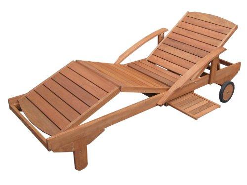 Hecht Sonnenliege - ERA - Gartenliege Holzliege Liege aus Meranti Holz