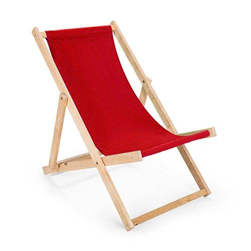 Holz Sonnenliege Strandliege Liegestuhl aus Holz Gartenliege N8