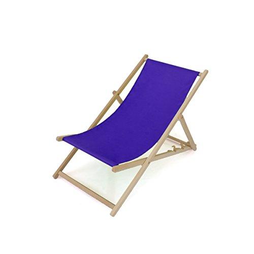 Liegestuhl aus Holz  2er SET  Dreistufig verstellbar Royalblau  11 Farben  Sonnenliege Gartenliege Strandliege