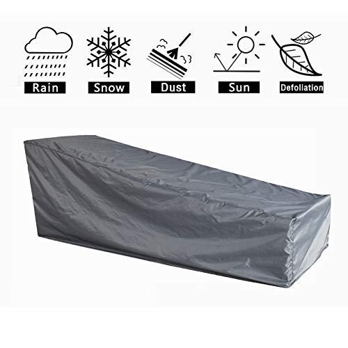HONCENMAX Schutzhülle für Liegen  Abdeckhauben für Liegen  Sonnenliege Liegestuhl Abdeckung  Abdeckung für Gartenliegen und Relaxliegen  Wetterschutz  Wasserdicht  UV-Schutz