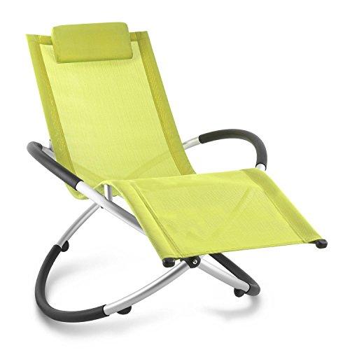 blumfeldt Chilly Billy • Liegestuhl • Gartenstuhl • ergonomische Relaxliege • Klappstuhl • Liege • Aluminium • 180kg maximale Belastung • atmungsaktiv • witterungsbeständig • faltbar • grün