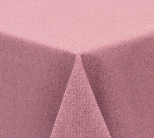 Tischdecke Leinen Optik FARBE wählbar Gartentischdecke Wasserabweisend Eckig 110x140 cm Rose Beautex