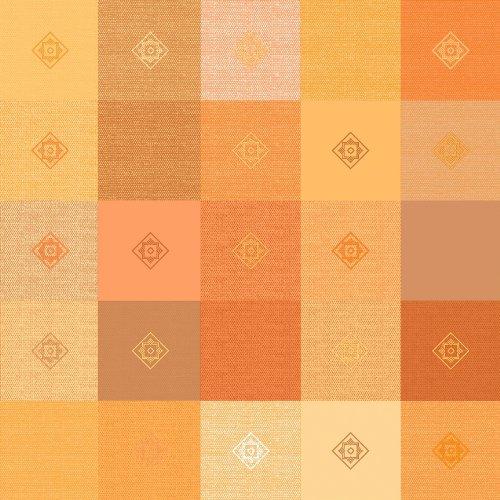 Wachstuch Breite Länge wählbar - dcfix Leinenoptik Kariert Orange 3854487 - ECKIG 130 x 200 bzw 200x130 cm abwaschbare Tischdecke Wachstücher Gartentischdecke