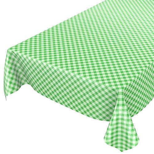 ANRO Wachstuchtischdecke Wachstuch Wachstischdecke Tischdecke Wachstuchdecke Karo Kariert Grün 100 x 140cm