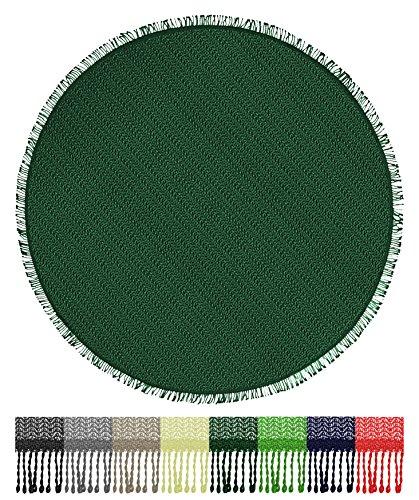 Brandsseller Gartentischdecke Tischdecke - wetterfest und Rutschfest für Garten Balkon und Camping - Rund 160 cm - Farbe Grün
