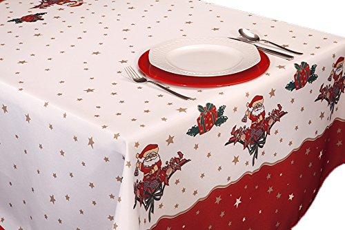 ExclusivoCIR Tischdecken Joyeaux Noel Weihnachten Ostern schmutzabweisend Farben im Frühjahr Decoracion Hogar 240 x 150 cm