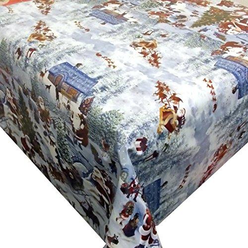 Wachstuch Winterland · Eckig 140x290 cm · Länge wählbar· Weihnachten - abwaschbare Tischdecke