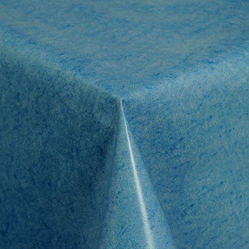 Wachstuch Tischdecke Gartentischdecke mit Fleecerücken Gartentischdecke Pflegeleicht Schmutzabweisend Abwaschbar Blau 120x 140 cm - Größe wählbar