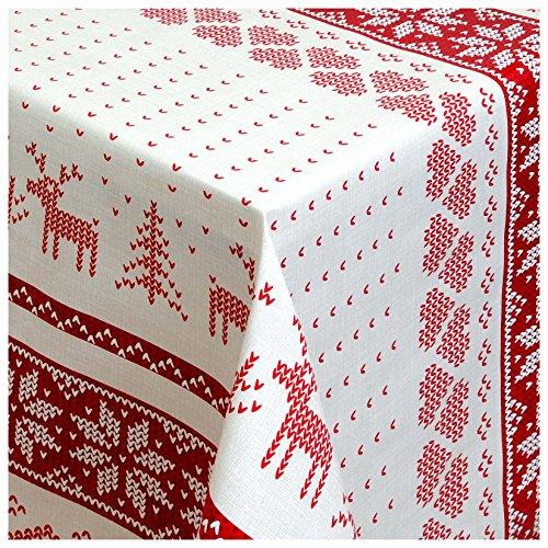 Wachstuch Tischdecke Gartentischdecke mit Fleecerücken Gartentischdecke Pflegeleicht Schmutzabweisend Abwaschbar Muster Farbe 240x 140 cm - Größe wählbar