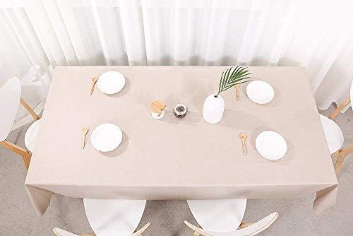 fancy-fix Wachstuchtischdecke abwaschbare Tischdecke aus Vinyl Wachstuch  Pflegeleicht  Volles Weiß  rechteckig 137 x 200 cm