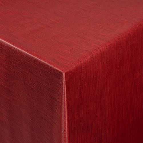 Tischdecke Wachstuch RUND ECKIG OVAL in verschiedenen Größen abwaschbar Meterware einfarbig Uni Wachstischdecke rot