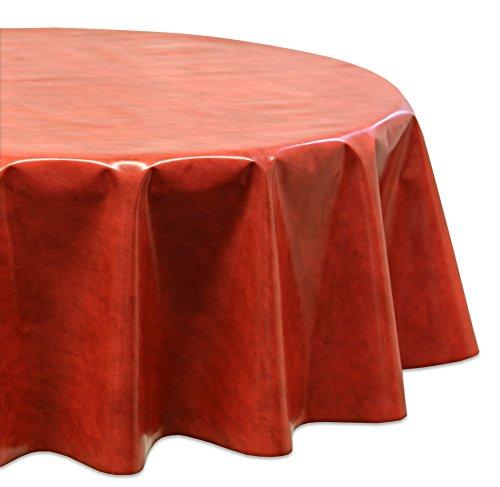 Wachstuchtischdecke OVAL RUND ECKIG Farbe u Größe wählbar Tischdecke Wachstuch abwischbar Marmor Rot Oval 140x190