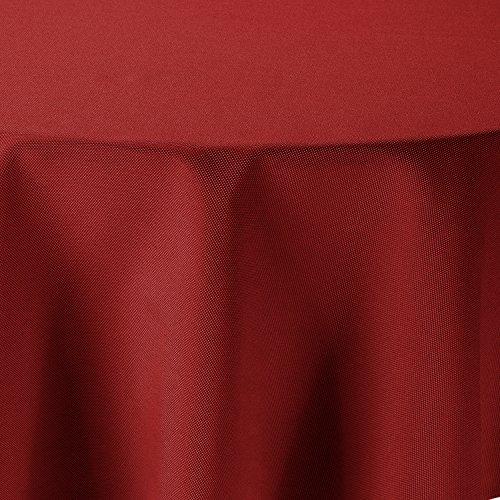 amp-artshop Tischdecke Leinen Optik Rund 160 cm Rot - Farbe wählbar mit Lotus Effekt - Lo_R160Rot