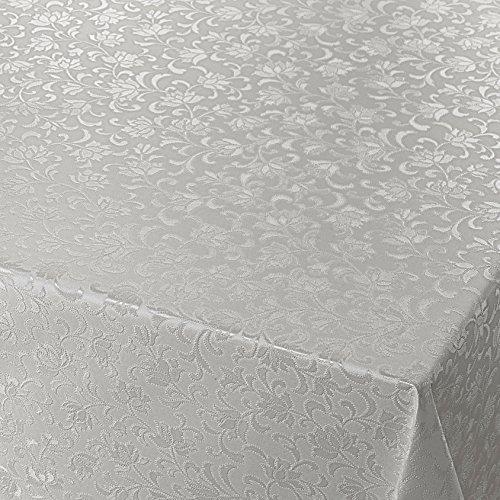 Wachstuch Breite 80 cm Länge wählbar - Blumen Relief Grau UNI Geprägt - Größe ECKIG 80 x 80 bzw 80x80 cm abwaschbare Tischdecke Wachstücher Gartentischdecke
