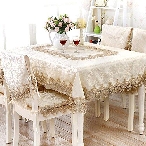 DEED Tischdecke-Europäischen Stil Tischdecke Tuch Tischdecke Garten Tischdecke Spitze Tischläufer Tischdecken Stuhlhussen SetA 40x220cm 16x87inch