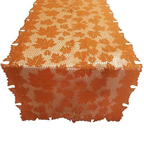 Holidaysummer Tischdecke Spitze Ahornblätter Tischläufer Gewürze Erntedankfest Abendessen Dekoration 152 x 213 cm