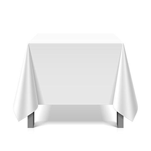 Tischdecke abwaschbar eckig Deko Vinyl weiss zuschneidbar Schutzbezug 180x220cm wasserdicht von eXODA