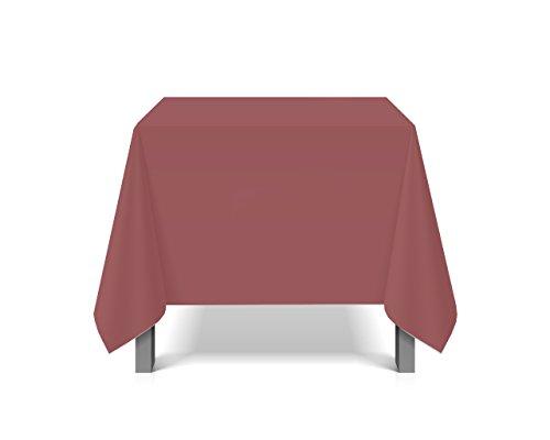 eXODA Tischdecke abwaschbar eckig Deko Vinyl dunkelrot zuschneidbar Schutzbezug 200x230cm wasserdicht