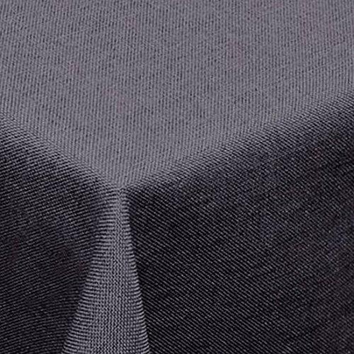 Leinen Optik Tischdecke Eckig 135x180 cm Grau bzw Anthrazit · Eckig Farbe wählbar mit Lotus Effekt - Wasserabweisend