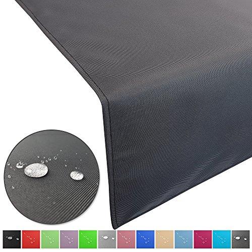 Outdoor Tischläufer Lounge mit Lotuseffekt wasserabweisende abwaschbaren Tischdecken in verschiedene Farben und Größen Tischband Gartentischdecke pflegeleicht und wetterfest FarbeAnthrazit Größe50 x 150 cm