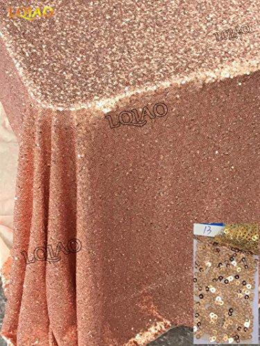 BLUELSS Luxus Mode rustic wasserlösliche Esstisch tuch Stoff Tischdecke Tischläufer Tischdecke Rose Gold 90 inx 156 in