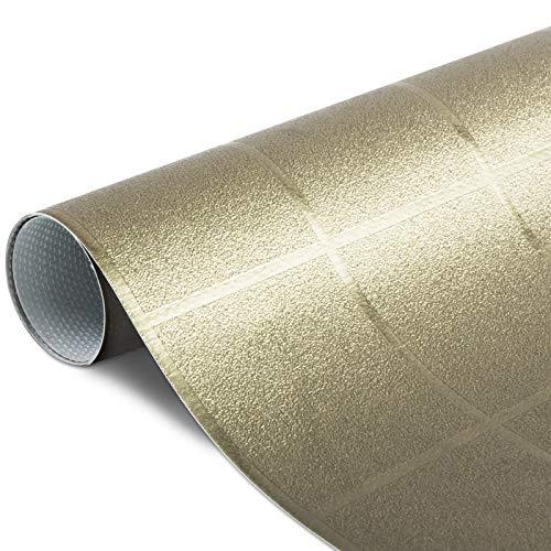 Festliche Wachstischdecke Block  gold glänzend  abwaschbar  Meterware 240x137cm