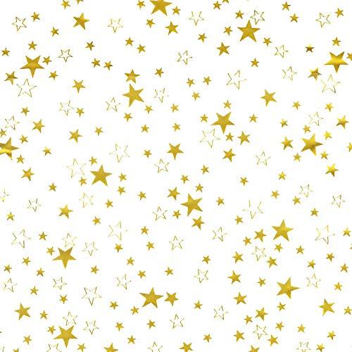 Transparente Tischdecke mit Sternen Gold DIKCKE ca 015 mm · Eckig 110x210 cm · Länge wählbar Weihanchten