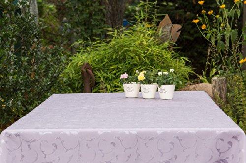 ABWASCHBAR Gartentischdecke eckig in vielen verschiedenen Größen Farben acrylbeschichtet in DesignsLondon flieder lila Maß 120x180