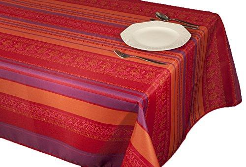 ExclusivoCIR Tischdecken Trendril lila Schmutzabweisend Farben im Frühjahr Dekoration Haus 350 x 150