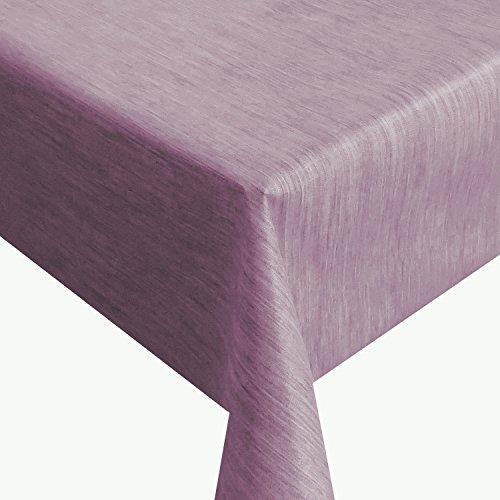 Wachstuch Robuste Leinen Prägung Pro Lila Breite Länge wählbar - Größe ECKIG 130 x 220 bzw 220x130 cm abwaschbare Tischdecke Gartentischdecke