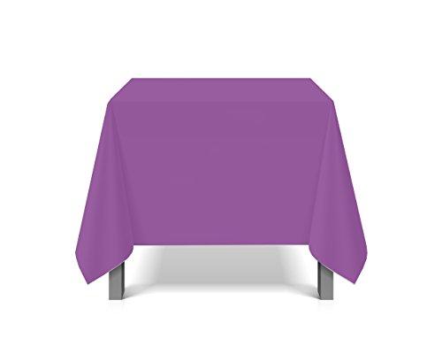 eXODA Tischdecke abwaschbar eckig Deko Vinyl lila zuschneidbar Schutzbezug 200x230cm wasserdicht