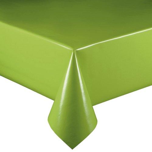 Lacktischdecke Breite 110 cm Farbe Länge wählbar - Grün Lebensmittelecht - Größe ECKIG 110 x 380 bzw 380x110 cm Wachstuch abwaschbare Tischdecke