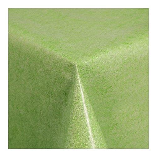 Wachstuch Tischdecke Wachstischdecke Gartentischdecke Abwaschbar Meterware Uni Grün Grün Melliert 225-04 100cm x 140cm