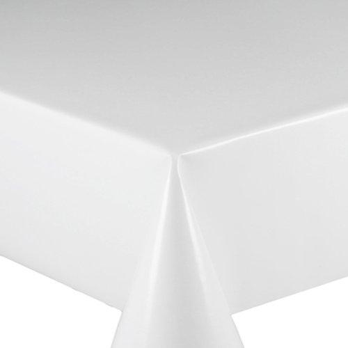 Wachstuch Breite 120 cm Länge wählbar - Glatt UNI Weiss Lack - Größe ECKIG 120 x 200 bzw 200x120 cm abwaschbare Tischdecke