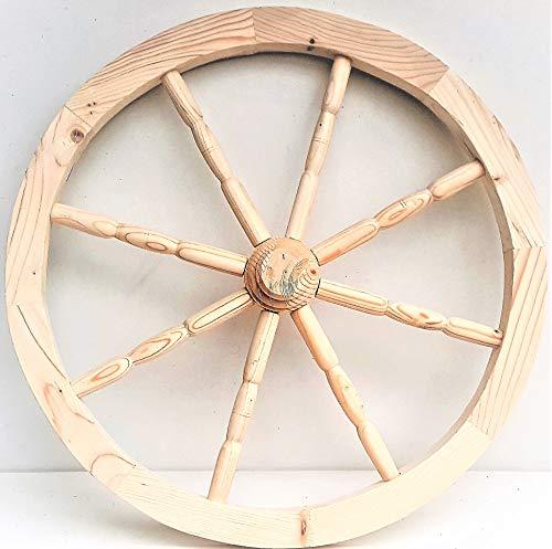 nattoyz Holz Wagen Rad Ornamental Holz Wagen Wagon Räder 59cm HEIM GARTEN DEKORATION