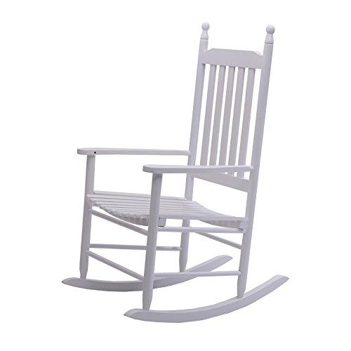 DESIGN DELIGHTS Holz SCHAUKELSTUHL Auvergne  Hartholz weiß lackiert  Gartenstuhl Sessel