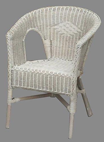 Sessel Stuhl Toast weiß Rattansessel