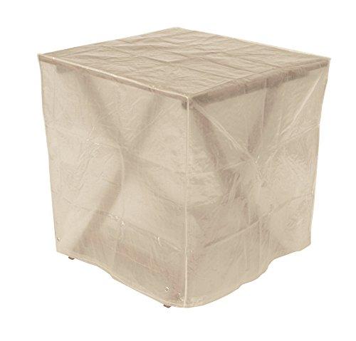 DEGAMO Schutzhülle Abdeckhaube 70x70cm quadratisch für Gartentische PE transparent