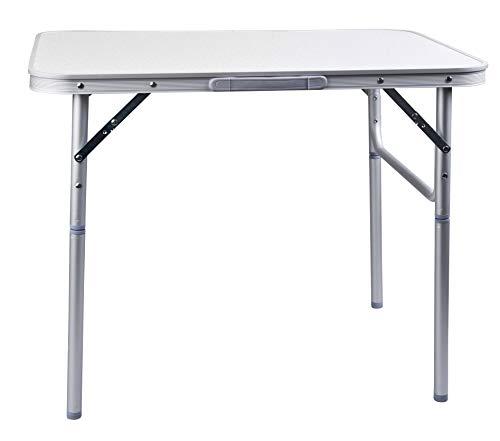 Aluminium Klapptisch Campingtisch 75x55cm Gartentisch Beistelltisch Falttisch Picknicktisch Alutisch faltbar und höhenverstellbar