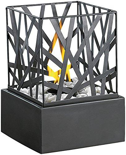 Carlo Milano Tischkamin Tisch-Dekofeuer Feng Shui mit Steingarten Feuerstelle