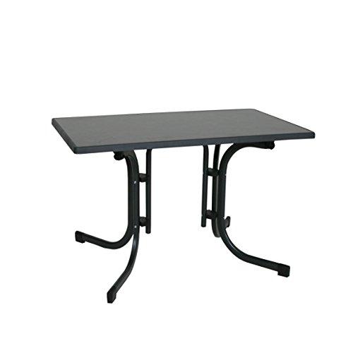 Ribelli Klapptisch Esstisch Gartentisch 110x70x70cm - klappbarer Tisch höhenverstellbar für den Garten als Beistelltisch oder Campingtisch mit Niveauregulierung witterungsbeständig